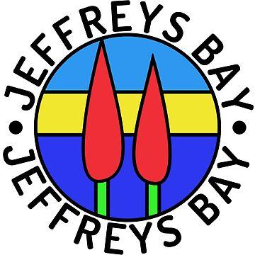 JeffreysBay.com logo, black border, black text by blommie