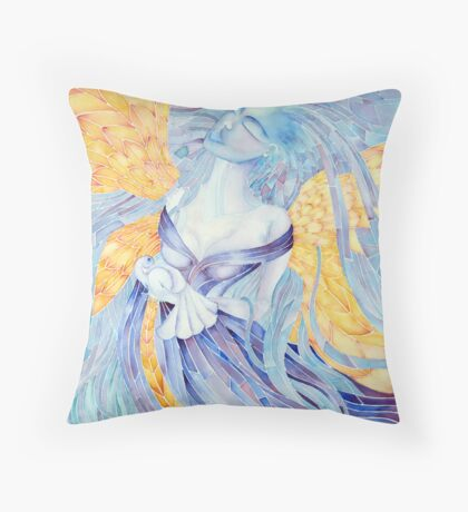 blue Angel of Peace  © patricia vannucci 2008  Throw Pillow