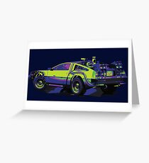 Back to the Future Delorean | Car | Cult Movie Greeting Card