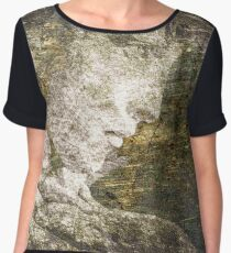 Angel In Bronze And Copper 2 Chiffon Top