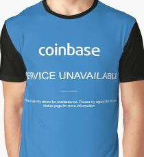Coinbase Down Service Unavailable Graphic T-Shirt
