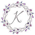 Monogramm-Buchstabe K | Personalisiert | Aquarell Design von PraiseQuotes