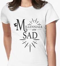 Millennials are Sad Women's Fitted T-Shirt