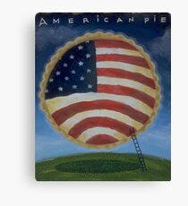 American USA Flag on Apple Pie in the Sky Canvas Print