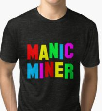 Manic Miner Coloured Letters T-shirt
