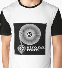 Strongman Studios Vinyl Disk and Arm Logo Graphic T-Shirt