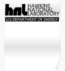 HAWKINS nationaly laboratory STRANGER eleven Poster
