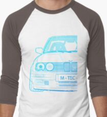 Custom Bimmer E30 3 Series M-Tec Model Men's Baseball ¾ T-Shirt