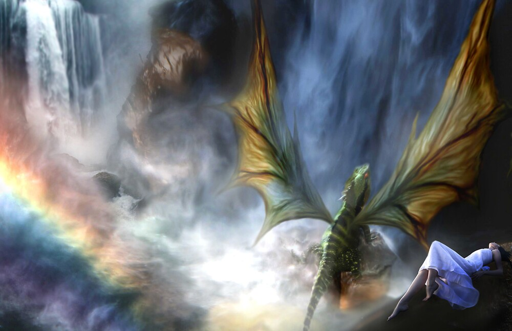 Water Dragon Falls by Cliff Vestergaard