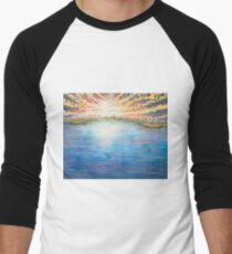 Floating Away - Original Blue Waterscape Painting T-Shirt