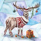 Christmas Deer by AnnaShell