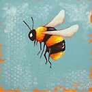 Bee Painting three by StressieCat