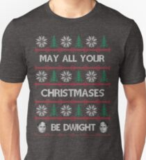 May All Your Christmases Be Dwight Unisex T-Shirt