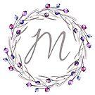 Monogramm-Buchstabe M | Personalisiert | Aquarell Design von PraiseQuotes