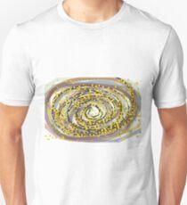 Gold Black Modern Abstract Art T-Shirt