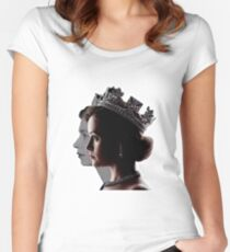 Elizabeth II Women's Fitted Scoop T-Shirt