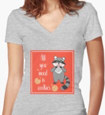 All you need is Cookies Women's Fitted V-Neck T-Shirt