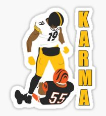 Antonio Brown - JuJu Smith-Schuster - steelers karma Sticker