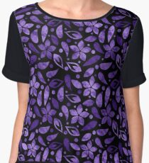 LOVELY FLORAL PATTERN #4 Women's Chiffon Top