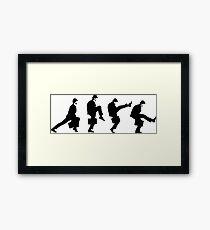 Ministry of Silly walk   Cult tv  Best of British   Monty Python Framed Print
