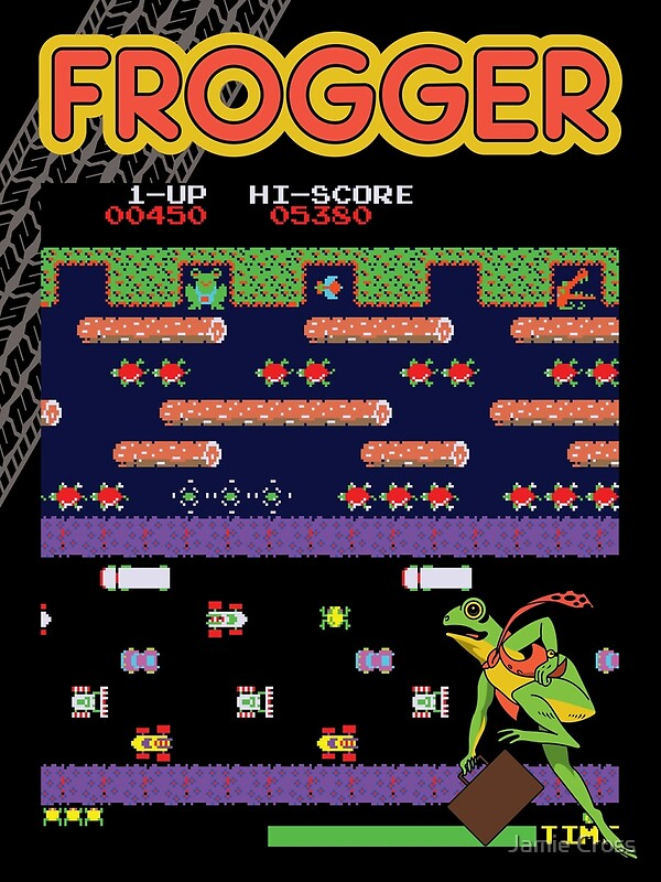 Frogger Game Screen Poster - 3 Sizes
