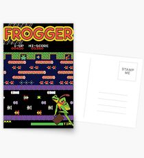 Frogger the Classic Arcade Video Game Postcards
