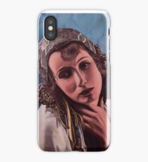 Oil on canvas - Greta Garbo iPhone Case/Skin
