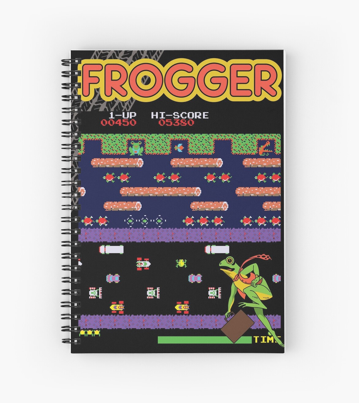 Frogger Game Screen Spiral Notebook