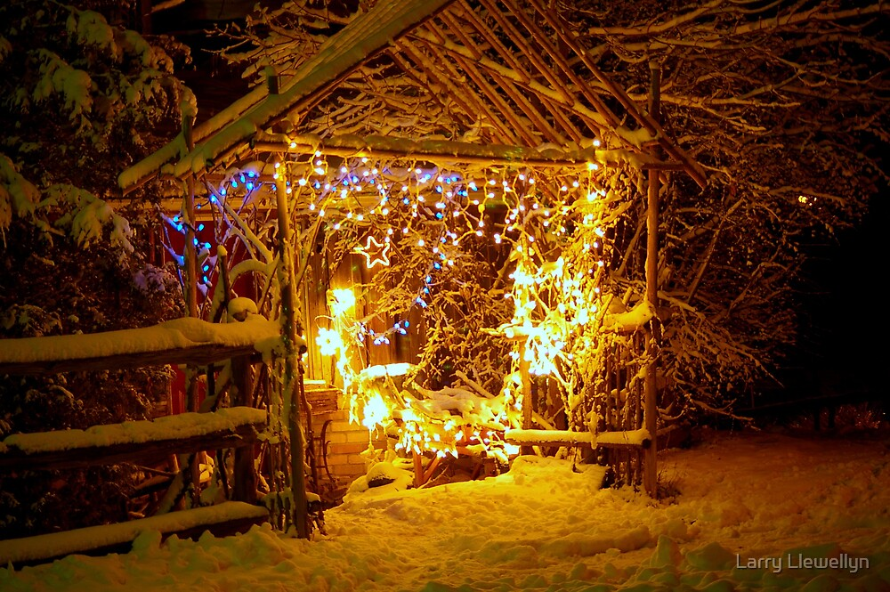 The Scene of Christmas Lights... a work needing some organization.... by Larry Llewellyn
