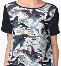 killer whale Women's Chiffon Top