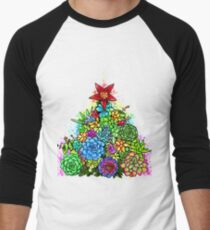 Succulent Christmas Tree ( Beige ) Men's Baseball ¾ T-Shirt