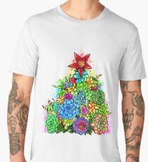Succulent Christmas Tree ( Beige ) Men's Premium T-Shirt