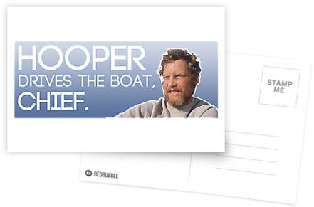 Hooper Bumper Sticker by MikaMurha