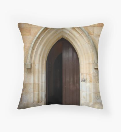knock and the door will be opened Throw Pillow