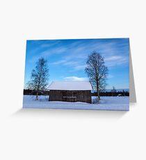 Abandoned Moon Barn Greeting Card
