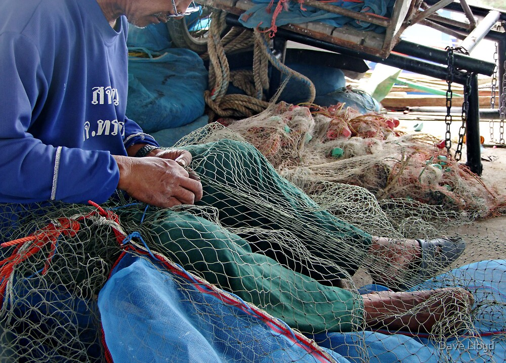 Mending Nets by Dave Lloyd