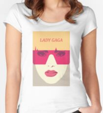 Lady Gaga Women's Fitted Scoop T-Shirt