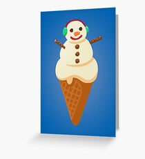 Softy Frosty Snowman Ice Cream Greeting Card