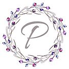 Monogramm-Buchstabe P | Personalisiert | Aquarell Design von PraiseQuotes