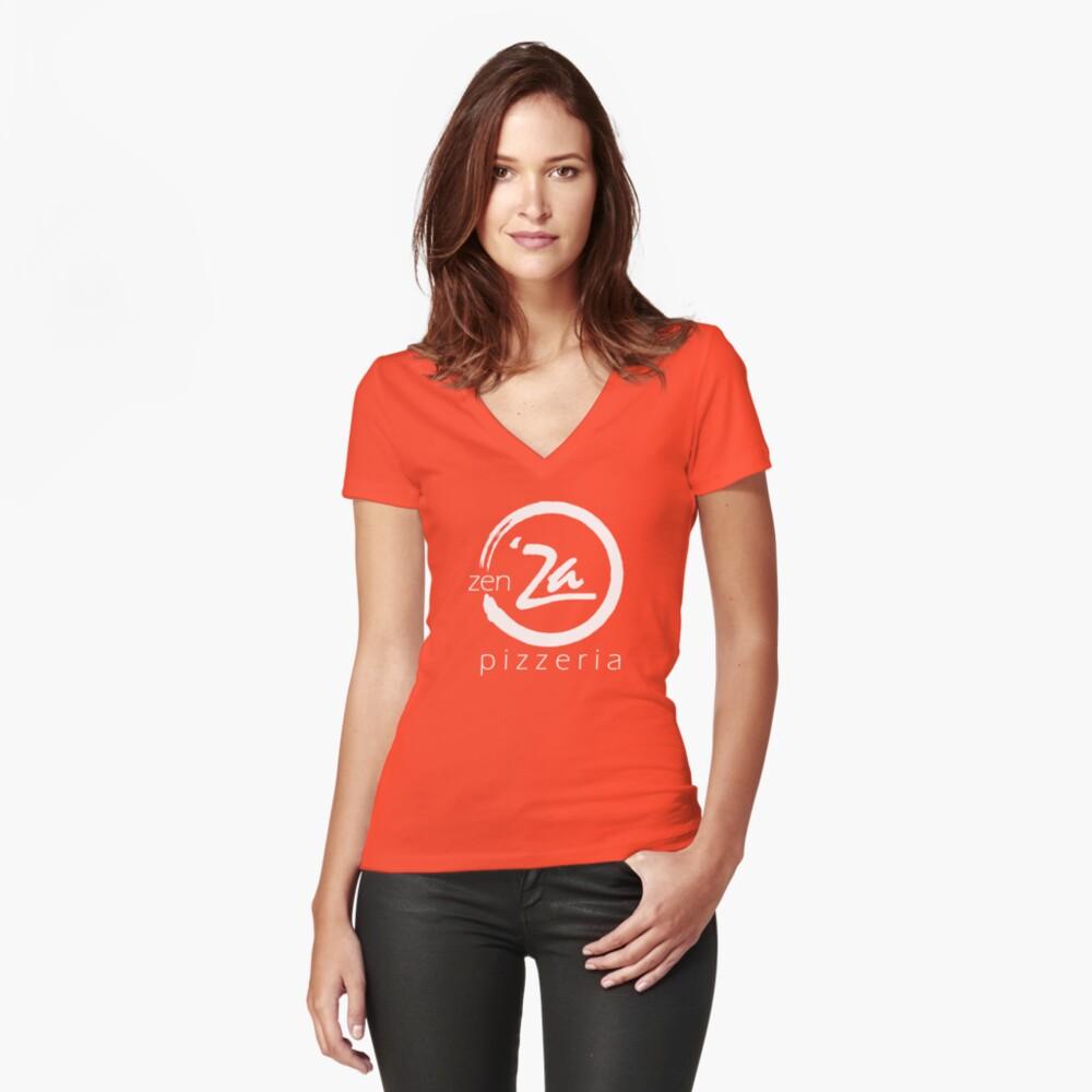 The 'Original' zenZa V-Neck Women's Fitted V-Neck T-Shirt Front