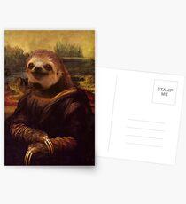 Sloth Mona Lisa Postcards