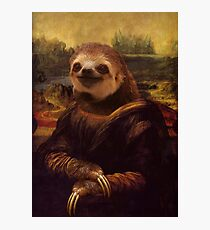 Sloth Mona Lisa Photographic Print