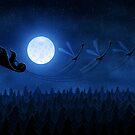 Christmas: Santa Flying 2 by vladstudio