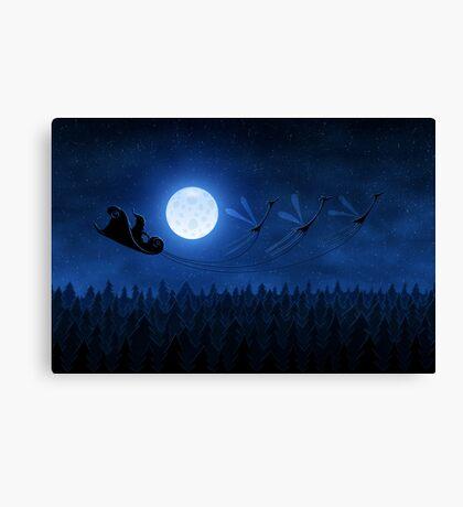Christmas: Santa Flying 2 Canvas Print
