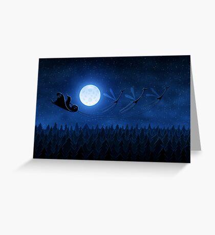 Christmas: Santa Flying 2 Greeting Card