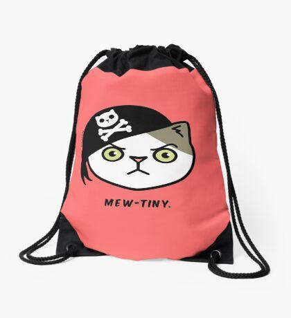 Mew-tiny Kitty Cat Pirate  Drawstring Bag