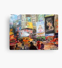 New York Times Square( by Me)  - Acrylic Artwork Canvas Print
