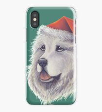 Santa Paws Pyrenees Santa With Hat iPhone Case/Skin