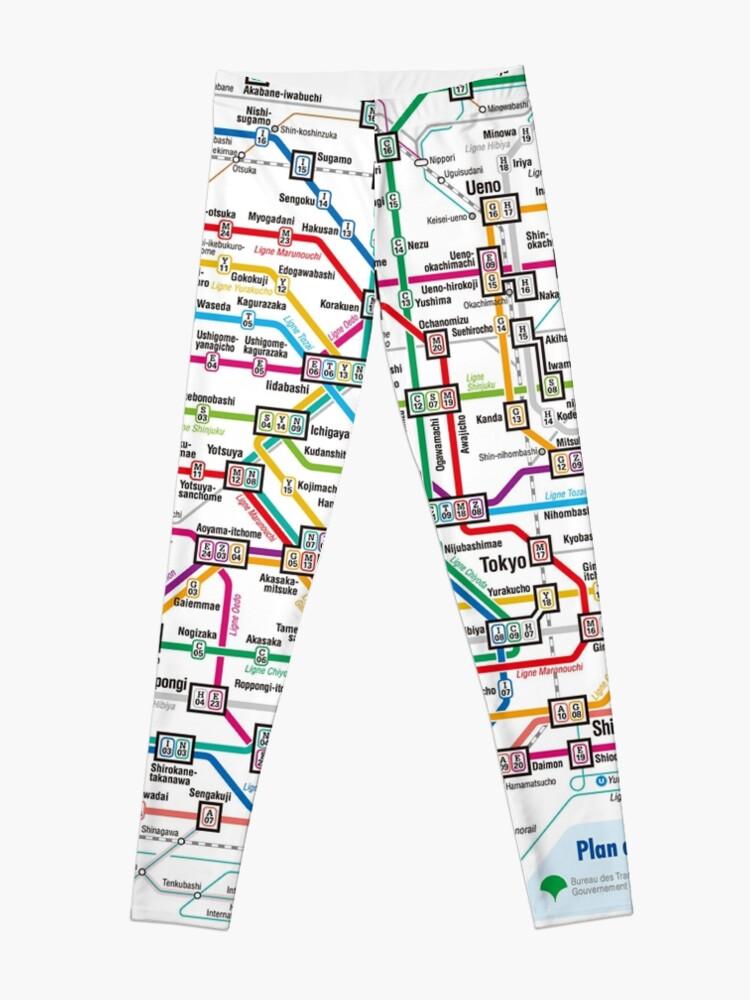 Aoyama Itchome On Subway Map.Tokyo Metro Subway Map Leggings