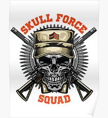 military skull  Poster